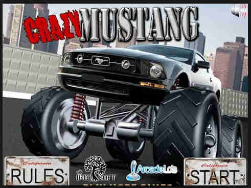 Crazy Mustang Monster Truck Game
