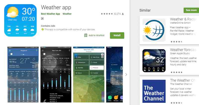 Best Google Weather App for Android